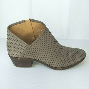 Lucky Brand Breeza 2 Taupe Leather Ankle Booties